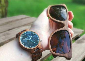 Holzuhr und Holzsonnenbrille von Holzspecht